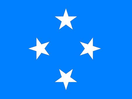 polity: This is Mikronesia flag illustration, computer generated. Stock Photo