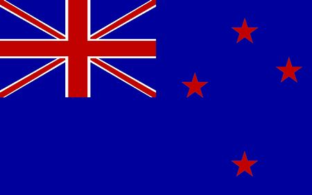 polity: This is New Zealand flag illustration, computer generated. Stock Photo