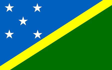 polity: This is Solomon Islands flag illustration, computer generated. Stock Photo