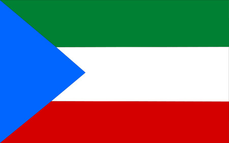 polity: This is Equatorial Guinea flag illustration, computer generated.