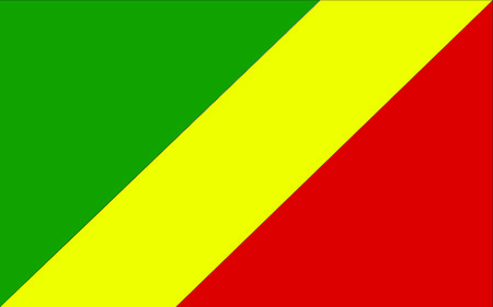 polity: This is Congo flag illustration, computer generated. Illustration