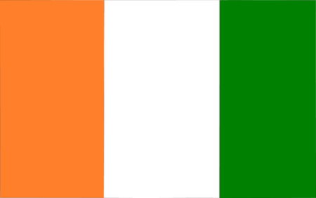 polity: This is Ivory Coast flag illustration, computer generated.