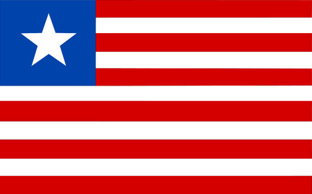 afrika: This is Liberia flag illustration, computer generated.