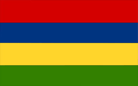 polity: This is Mauritius flag illustration, computer generated.