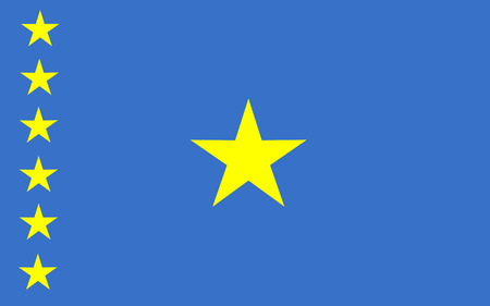 polity: This is Democratic Republic of the Congo flag illustration, computer generated. Illustration