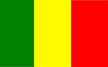 This is Mali flag illustration, computer generated. Vector