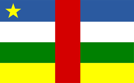 polity: This is Central African Republic flag illustration, computer generated.