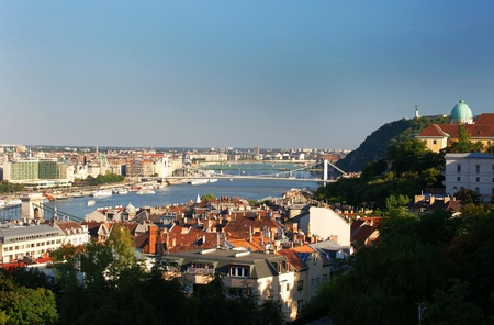 This is a view of Budapest - capital city of Hungary photo