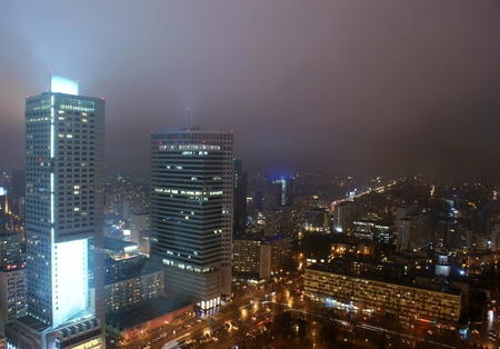 warszawa: This is a view of Warsaw, the capital city of Poland.   Editorial