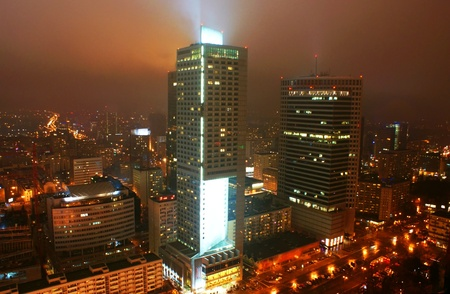 This is a view of Warsaw, the capital city of Poland.   Editorial