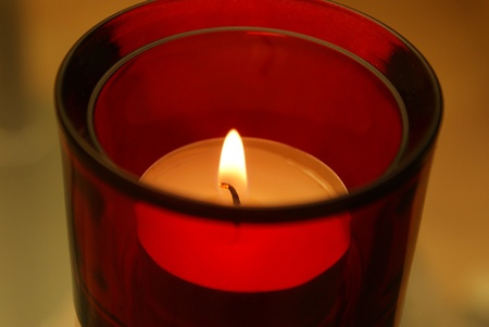 This is a view of burning candle Stock Photo - 11697408