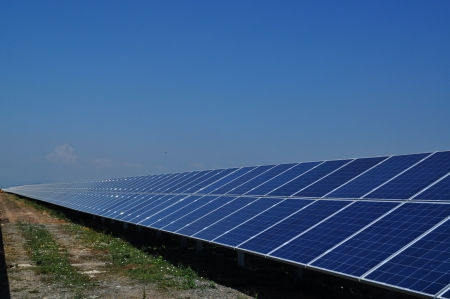 This is a photovoltaic farm in Bulgaria. photo