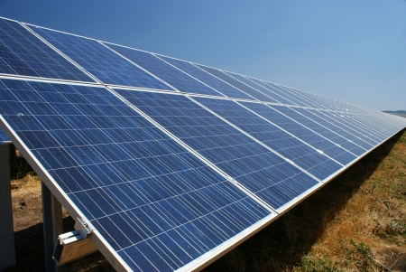 solar electric: This is a photovoltaic farm in Bulgaria.