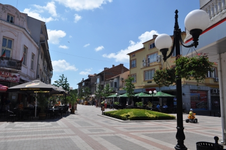 This is a view of an old touristic town in Bulgaria Editorial