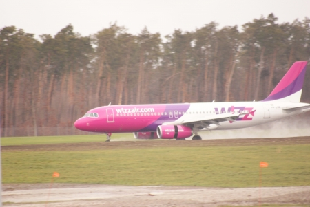 Airport Lublin in Swidnik, Poland - January 5, 2013 - WizzAir Lines
