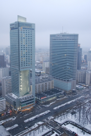 Warsaw City, Poland - February 16, 2013 - Skyscrapers in Warsaw Stock Photo - 18114762