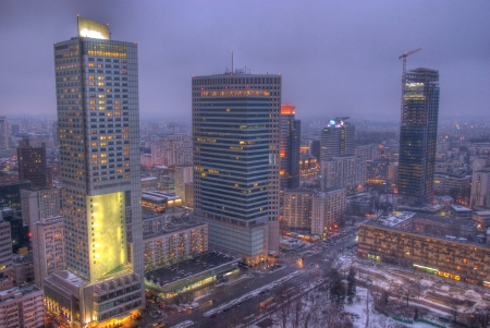 Skyscrapers in Warsaw photo