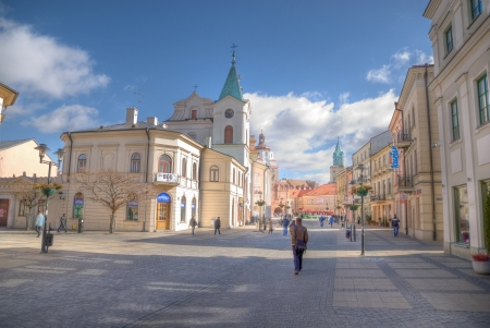 lublin: This is a view of Lublin City, Poland