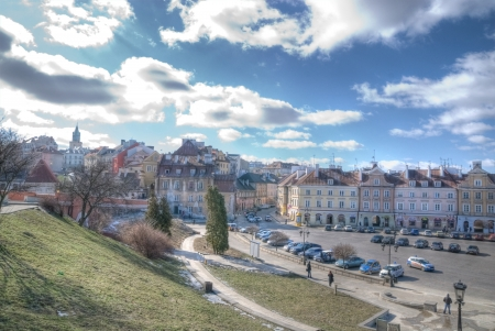 This is a view of Lublin City, Poland photo