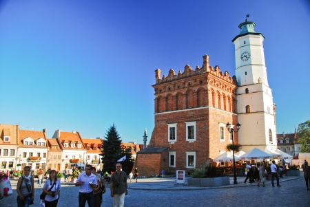 main market: View of main market in Sandomierz, Poland  September 8, 2013 Editorial