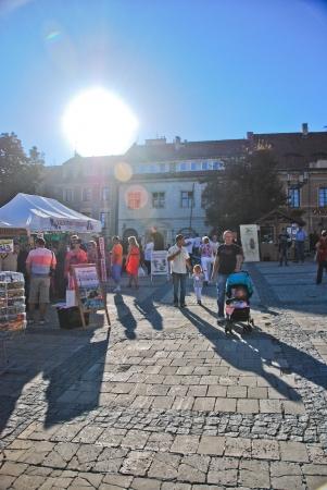 main market: View of main market in Sandomierz, Poland  September 8, 2013 Editorial