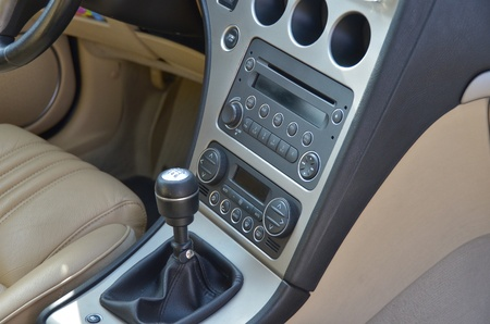 romeo: This is a view of luxury car Alfa Romeo 159 interior details. February 28, 2015. Lublin, Poland.