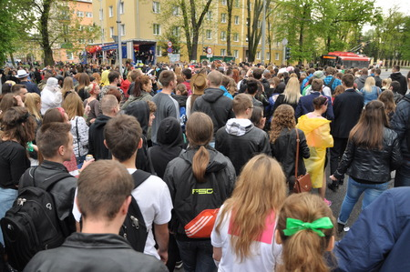 pageant: This is a view of students39 pageant on the first day of students holiday in Lublin. May 6 2015. Lublin Poland. Editorial