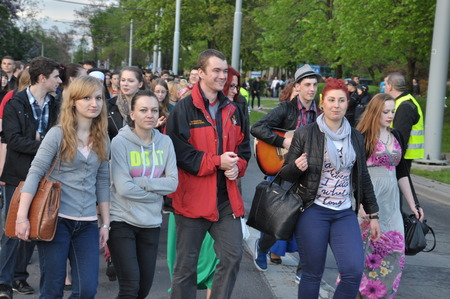 guise: This is a view of students 39pageant on the first day of students39 holiday in Lublin. May 6 2015. Lublin Poland.