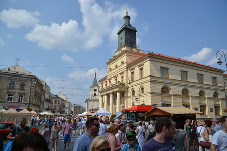 lublin: This is a view of the Jagiellonian Fair in Lublin. August 15, 2015. Lublin, Poland.