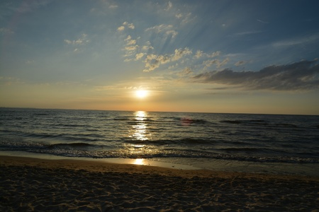 skyscapes: This is a view of sunset in Miedzyzdroje by the Baltic Sea, Poland.
