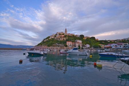 This is a view of croatian town Vrbnik. September 4, 2017. Vrbnik, Croatia. Editorial