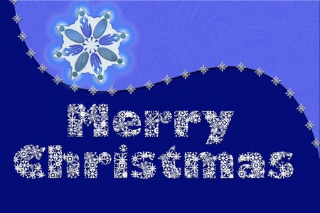 An elegantly designed and decent Christmas digital card for multipurpose use e.g. hobby, card, scrapbooking andor wallpaper Stock Photo