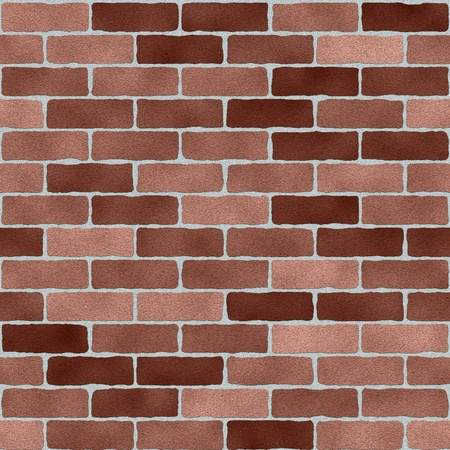 Hand crafted and textured brick wall seamless tile for a multipurpose use in game development, scene background, layout, hobby, scrapbooking needs Stock Photo
