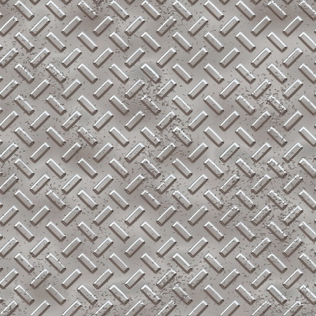 Crafted and hand textured decayed metallic seamless texture tile for multipurpose use in game development, model texturing, hobby background or scrapbooking needs Stock Photo