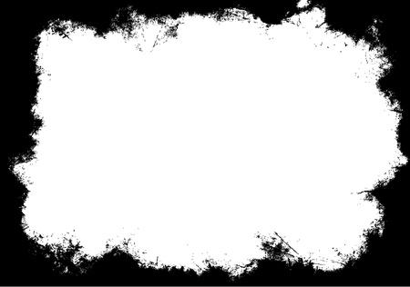 Grunge frame mask Illustration