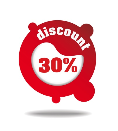 package printing: Discount iconlabel for multipurpose use