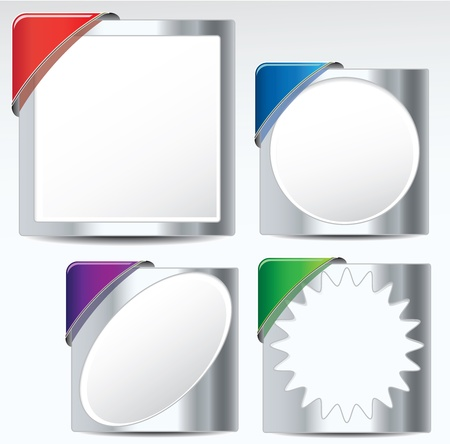 Metallic labelsticker Collection for use in design tasks