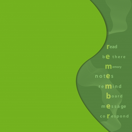 elegantly: Elegantly designed vivid green reminder note