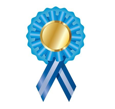 blue logo: Elegant illustration of the certificateawardmedal label for various creative needs