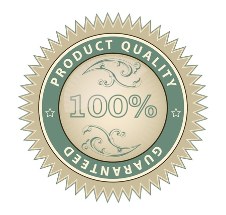 High quality product gurantee certificatelabelsign Illustration
