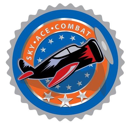 Creative illustration of aero commemorative label design Stock Vector - 14364835