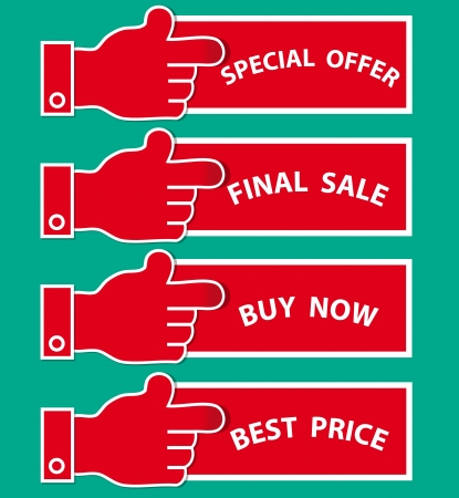 A collection of creative shoppingmarketing labelsstickers Illustration