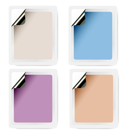 stigma: Collection of empty selfadhesive labels in pastel colours for an immediate design and layout effort