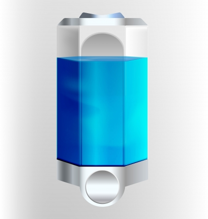 dispenser: Filled soap dispenser illustration Illustration
