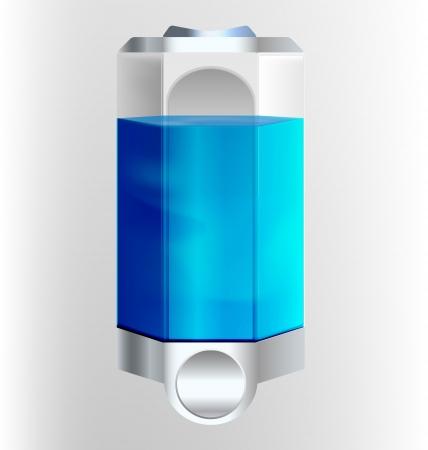 Filled soap dispenser illustration Illustration