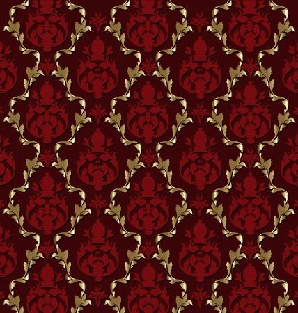 Vector design of luxurious brocade pattern