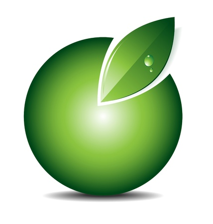 Illustration and design of a ecology green iconemblemlogo with empty area for text or image Vector