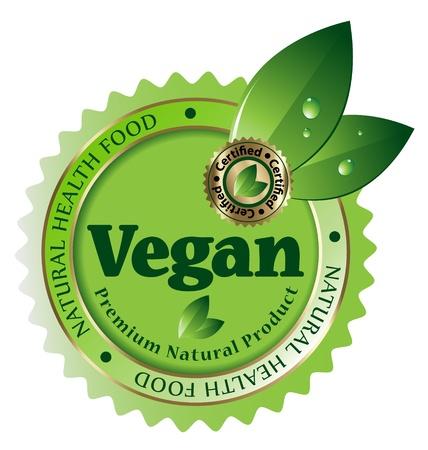 Design of Premium Quality vegan vector labelstickeremblemicon Vector