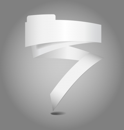 Design of an empty text ribbon for multipurpose use