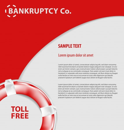 bankruptcy: Design of corporate empty leaflet template related to economypolitics